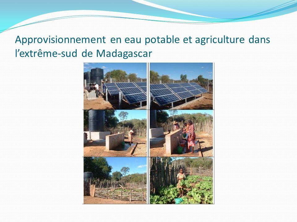 Approvisionnement en eau potable et agriculture dans lextrême-sud de Madagascar