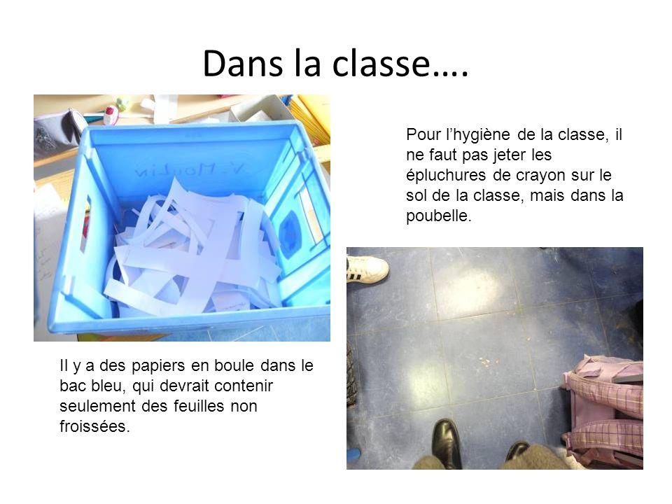 Dans la classe….