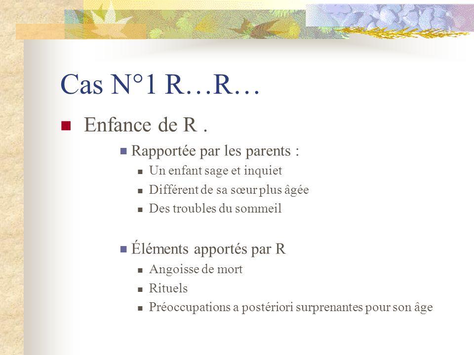 Cas N°1 R…R… Enfance de R.