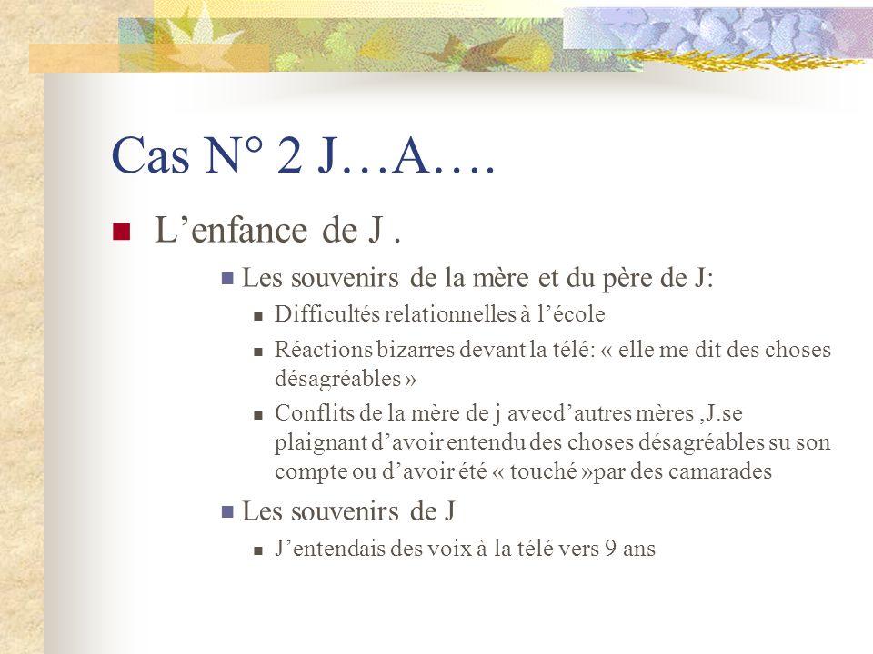 Cas N° 2 J…A….Lenfance de J.