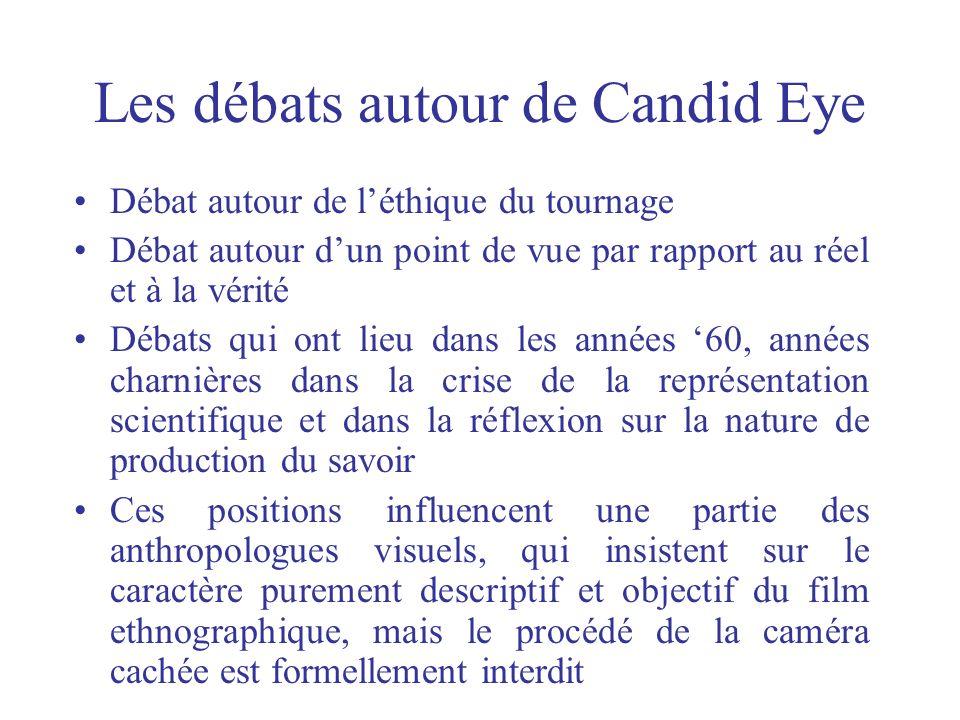 Les débats autour de Candid Eye Débat autour de léthique du tournage Débat autour dun point de vue par rapport au réel et à la vérité Débats qui ont l