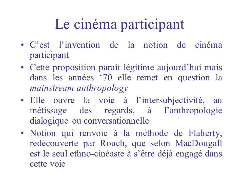 Le cinéma participant Cest linvention de la notion de cinéma participant Cette proposition paraît légitime aujourdhui mais dans les années 70 elle rem