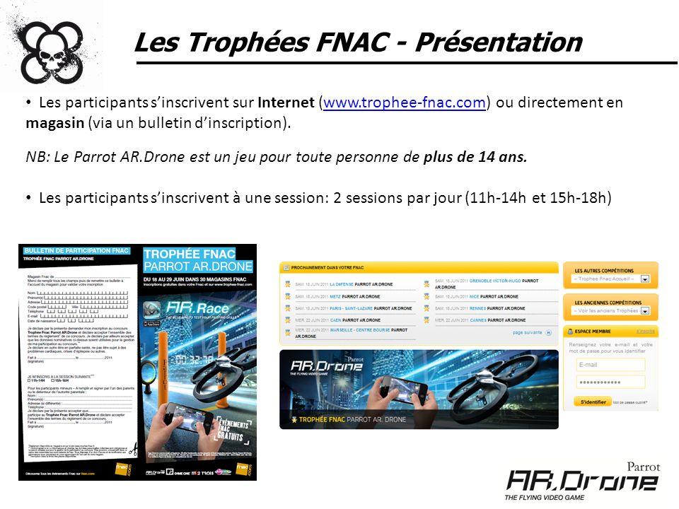 Les Trophées FNAC - Présentation Les participants sinscrivent sur Internet (www.trophee-fnac.com) ou directement en magasin (via un bulletin dinscript