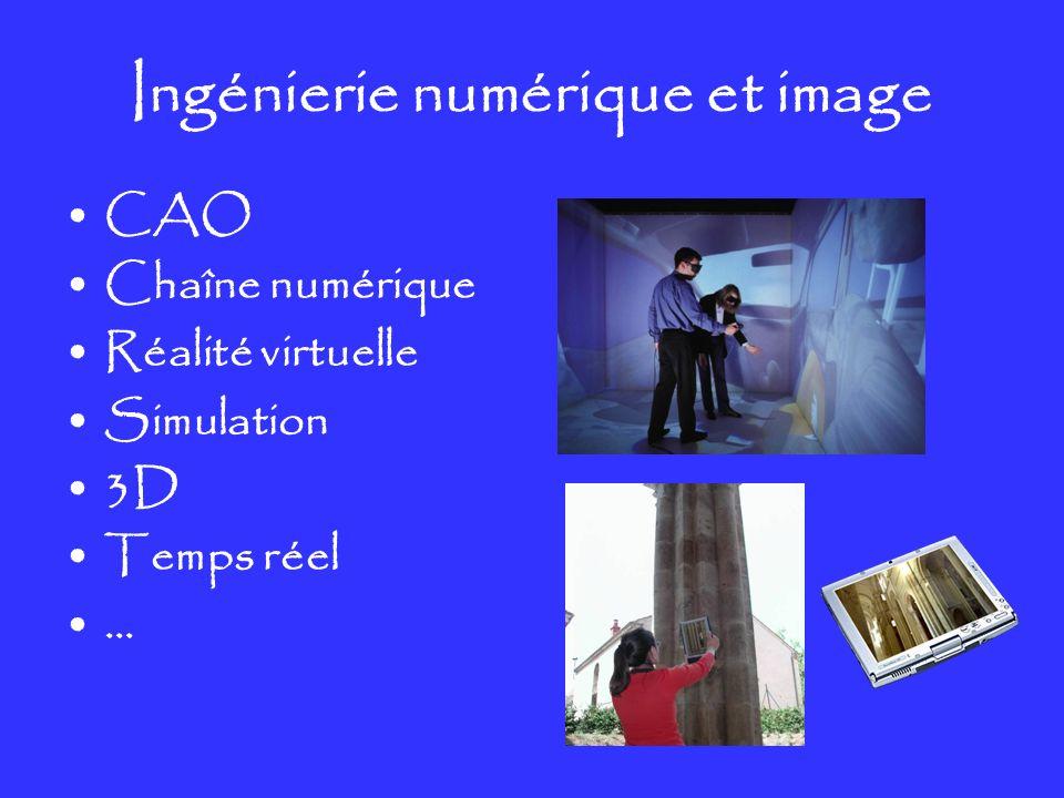 Ingénierie numérique et image CAO Chaîne numérique Réalité virtuelle Simulation 3D Temps réel …