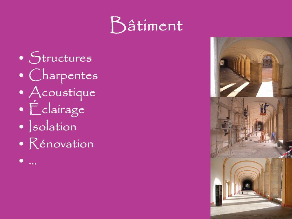 Bâtiment Structures Charpentes Acoustique Éclairage Isolation Rénovation …