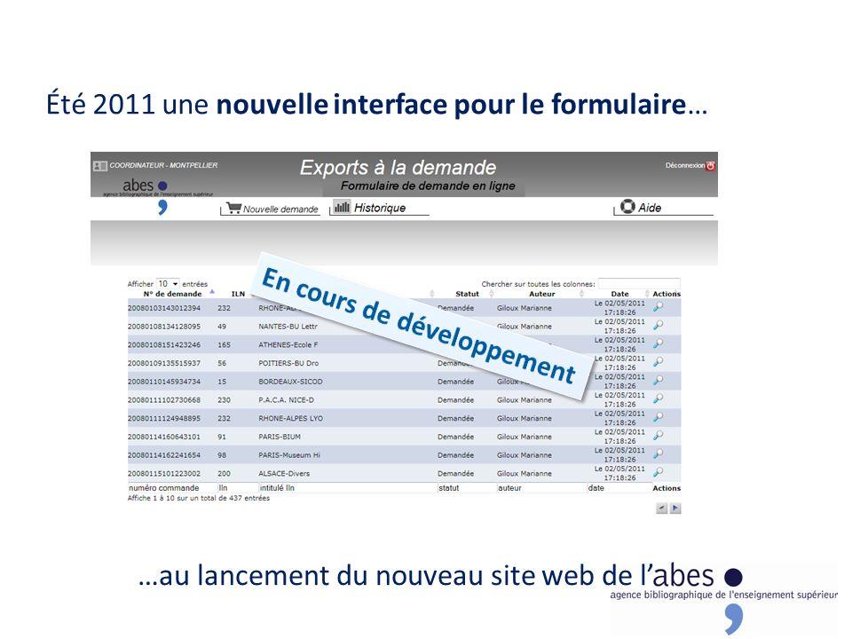 Été 2011 une nouvelle interface pour le formulaire… …au lancement du nouveau site web de l