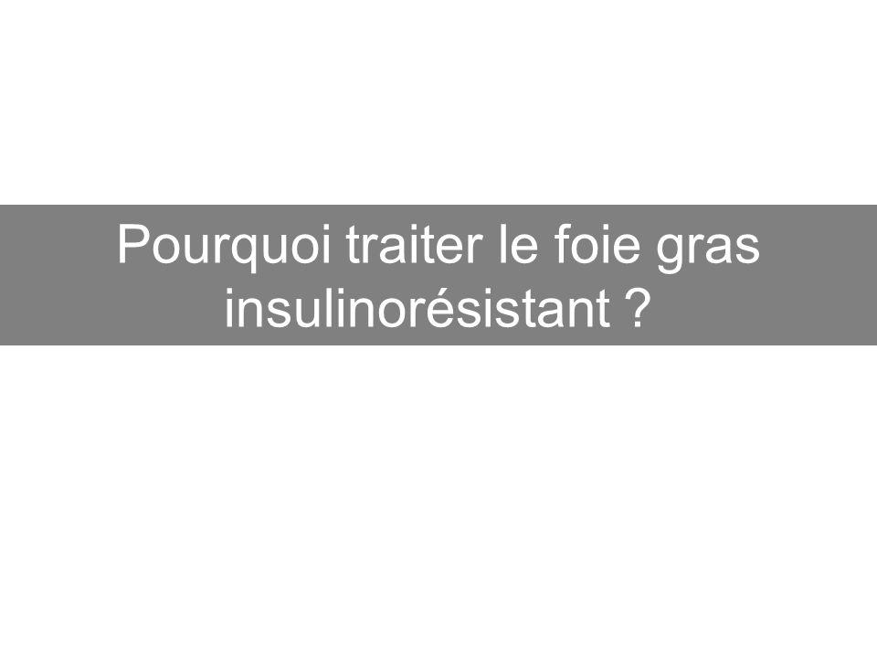Pourquoi traiter le foie gras insulinorésistant ?