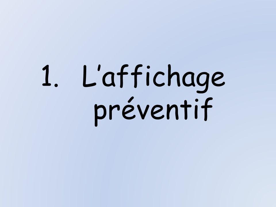 1.Laffichage préventif