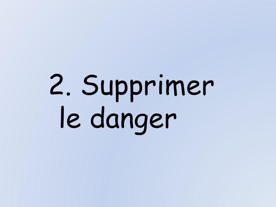 2. Supprimer le danger