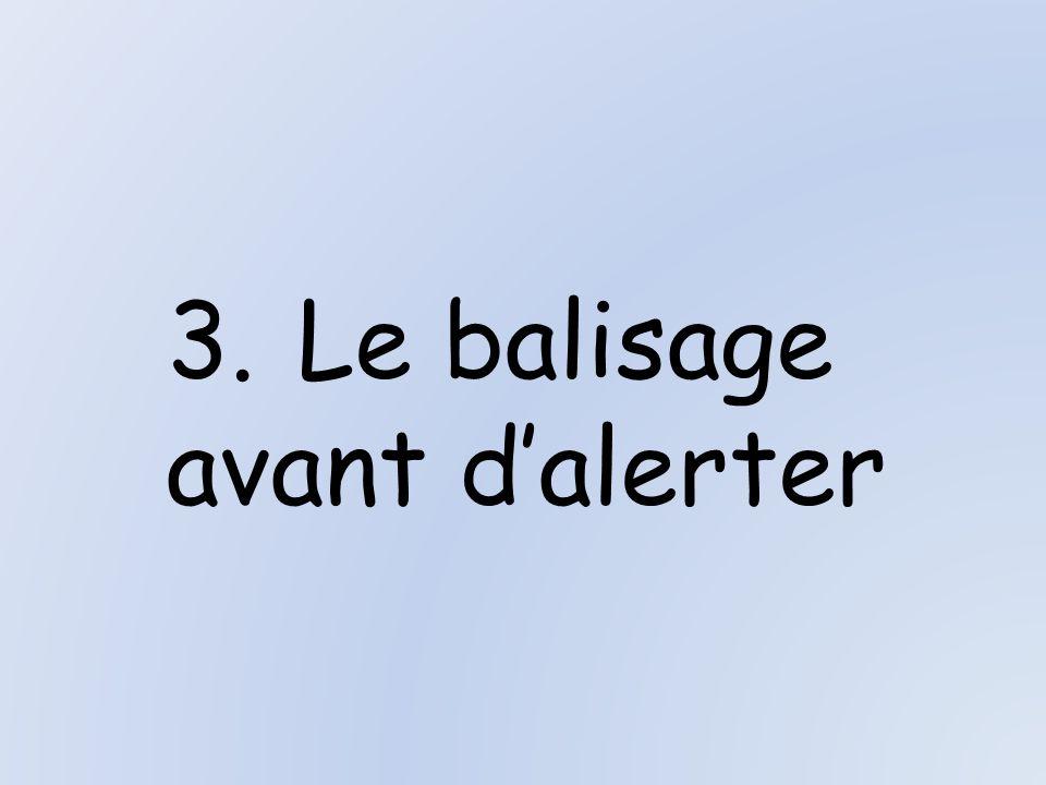 3.Le balisage avant dalerter