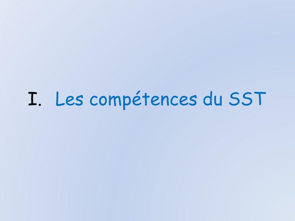 I.Les compétences du SST