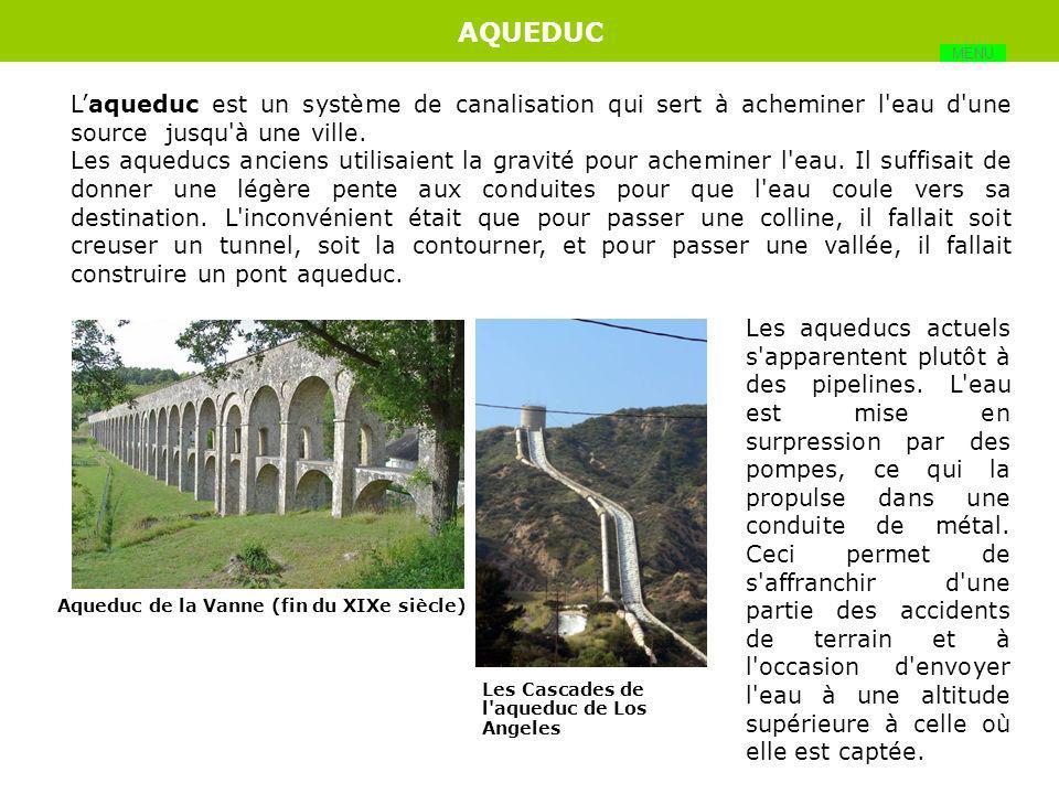 Pont : Aqueduc Arche Pile Pont à haubans Pont en arcs Pont suspendu Portée Suspentes Tablier Travée Viaduc Voussoirs Matériaux : Béton Béton armé Béto