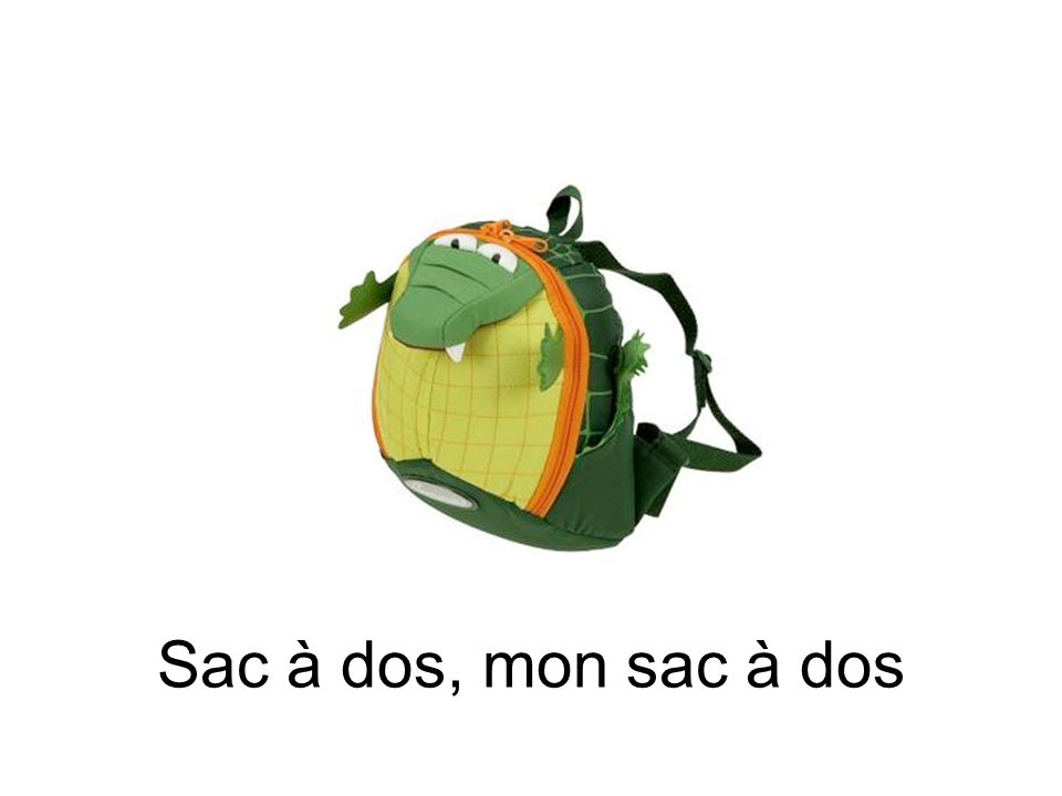 Sac à dos, mon sac à dos