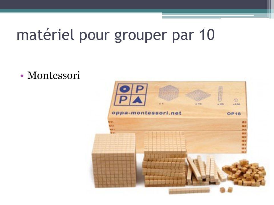 matériel pour grouper par 10 Montessori