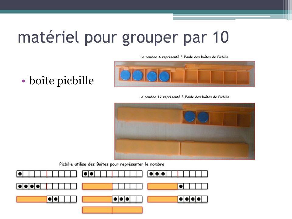 matériel pour grouper par 10 boîte picbille