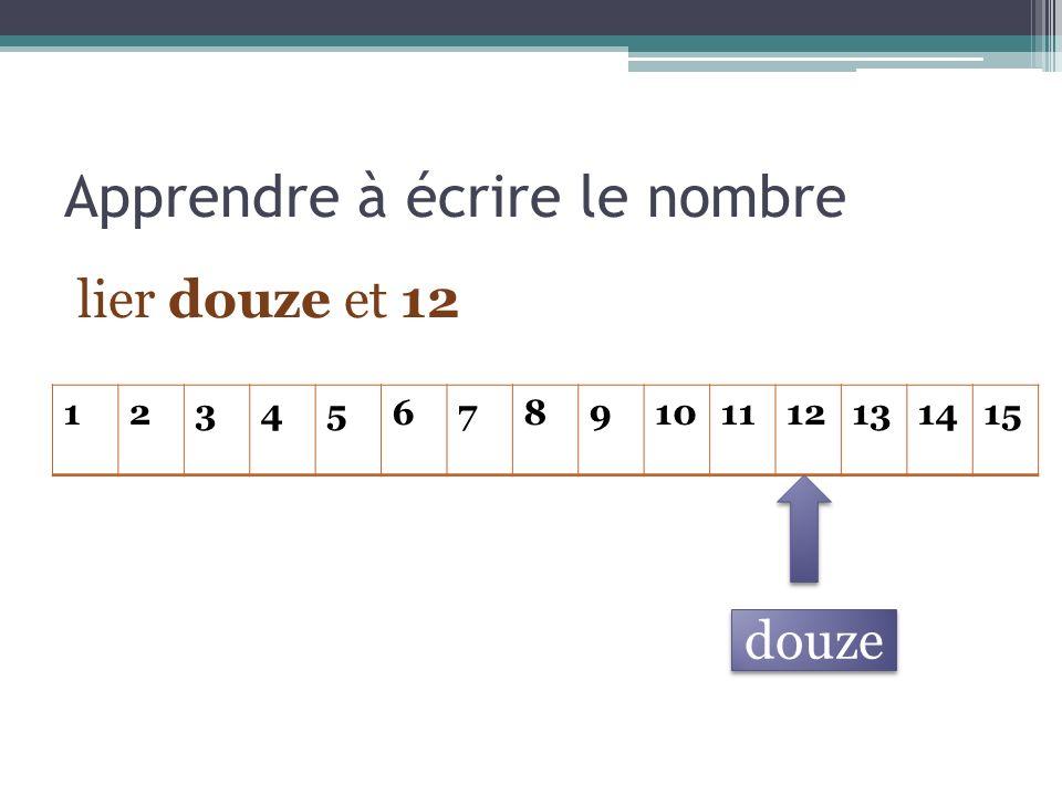 Le tableau des nombres : un outil pour les calculs additifs Représentations et calcul
