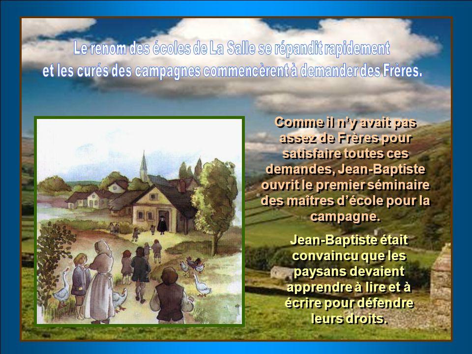 Le curé de Saint-Sulpice proposa à Jean-Baptiste dutiliser les locaux de lécole le dimanche après-midi, pour former les jeunes travailleurs de sa paro
