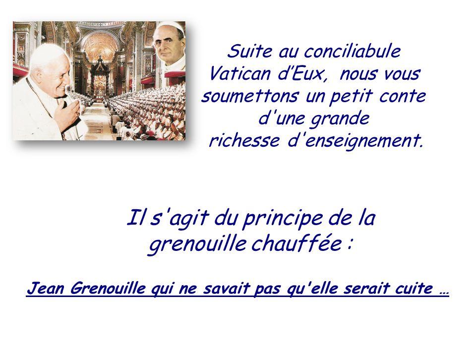 HISTOIRE DE JEAN GRENOUILLE tradi -fidèle de la fsspx À méditer, c est cruellement vrai ….