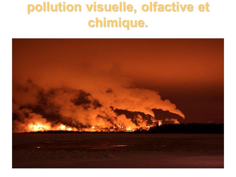 pollution visuelle, olfactive et chimique.