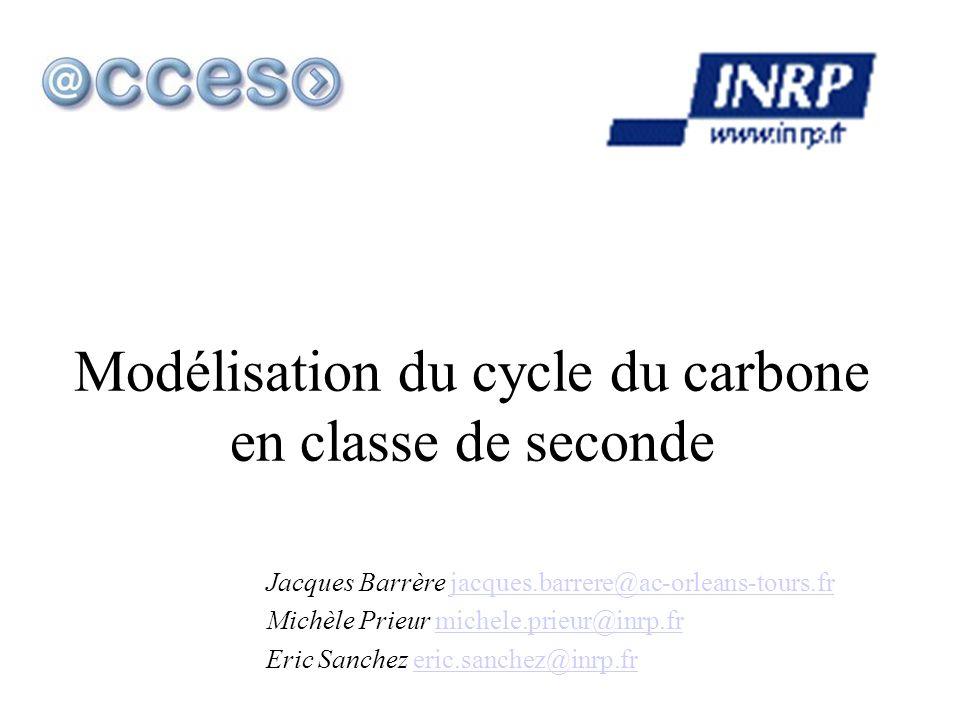 Modélisation du cycle du carbone en classe de seconde Jacques Barrère jacques.barrere@ac-orleans-tours.frjacques.barrere@ac-orleans-tours.fr Michèle P