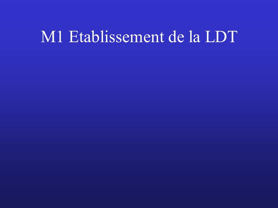 M1 Etablissement de la LDT