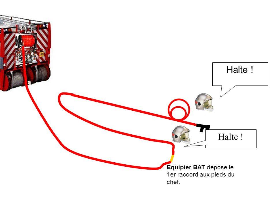 1er raccord Equipier BAT attrape le 1er raccord