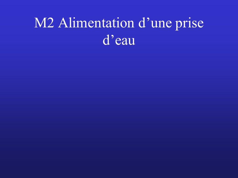 M2 Alimentation dune prise deau