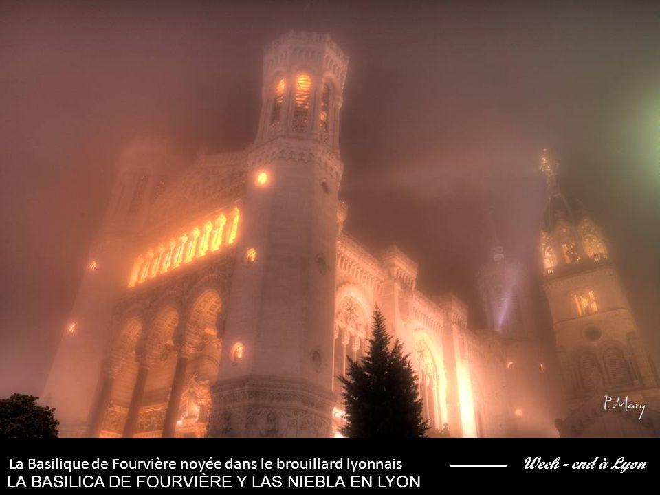 Week - end à Lyon La Basilique de Fourvière noyée Dans le brouillard lyonnais LA BASILICA DE FOURVIÈRE Y LAS NIEBLA EN LYON