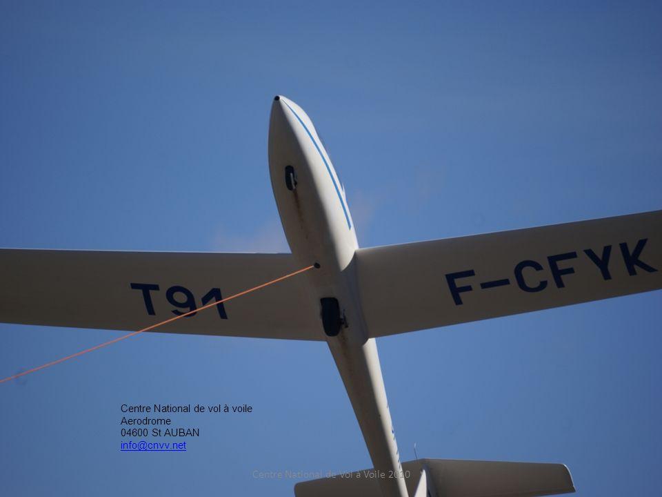 Centre National de vol à voile Aerodrome 04600 St AUBAN info@cnvv.net Bon vol bonne treuillée Casse de câble possible