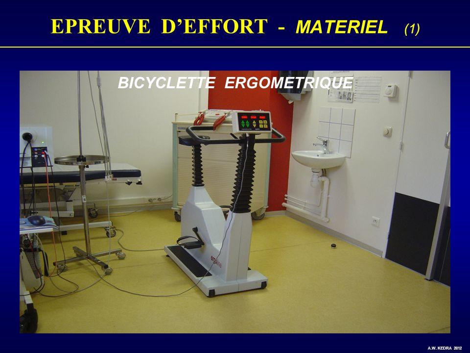 EPREUVE DEFFORT - MATERIEL (1) BICYCLETTE ERGOMETRIQUE A.W. KEDRA 2012