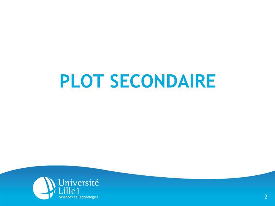 2 PLOT SECONDAIRE