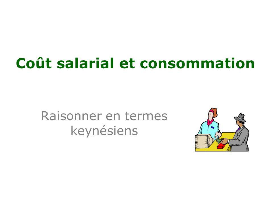 Coût salarial et consommation Raisonner en termes keynésiens