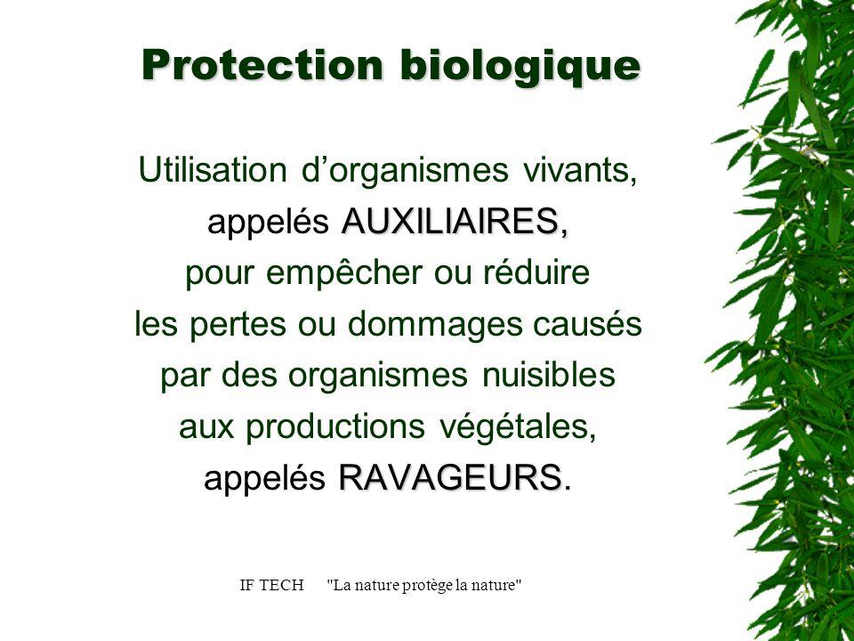 IF TECH La nature protège la nature Communication SALONS 2004: Sival, Salon du Végétal, Floralies de Nantes, Hormatec, Innovac.
