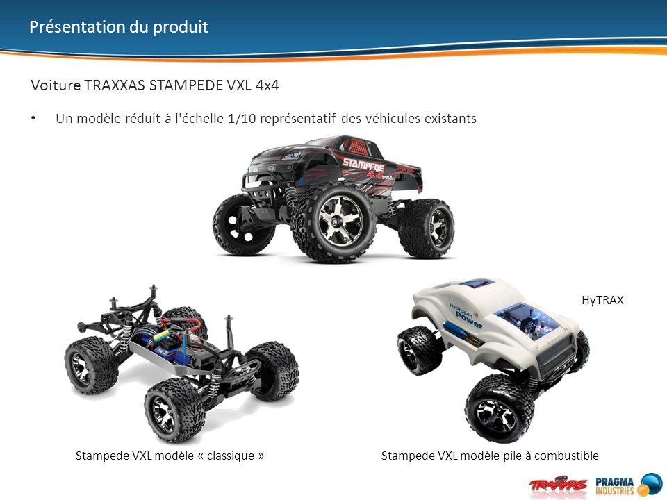 Voiture TRAXXAS STAMPEDE VXL 4x4 Un modèle réduit à l échelle 1/10 représentatif des véhicules existants Présentation du produit Stampede VXL modèle « classique »Stampede VXL modèle pile à combustible HyTRAX