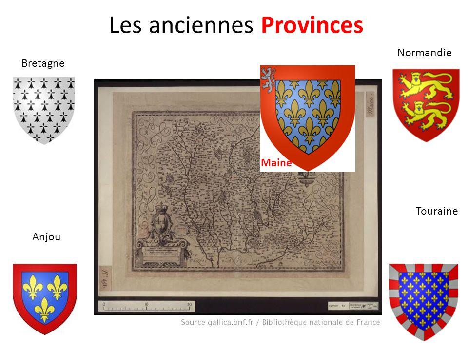 Les anciennes Provinces Bretagne Normandie Anjou Touraine Maine