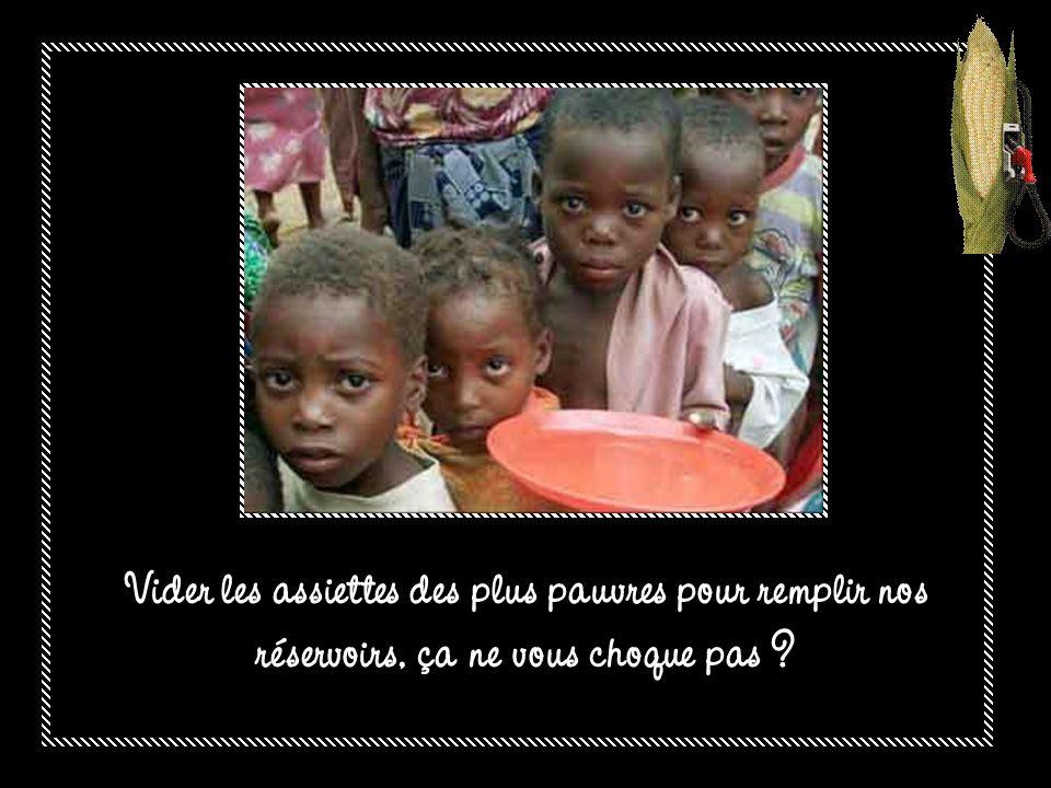 Dans le monde, 850 millions de personnes souffrent de la faim.