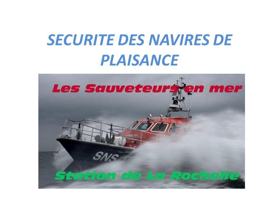 SECURITE DES NAVIRES DE PLAISANCE