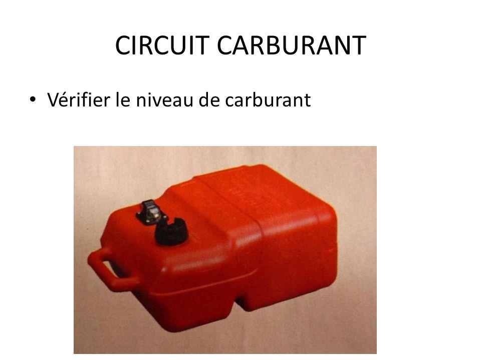CIRCUIT CARBURANT Vérifier le niveau de carburant