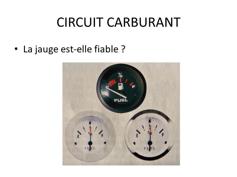 CIRCUIT CARBURANT La jauge est-elle fiable ?