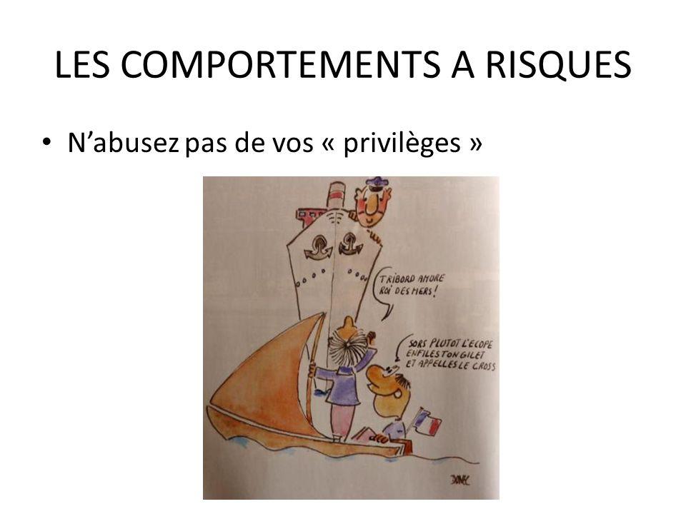 LES COMPORTEMENTS A RISQUES Nabusez pas de vos « privilèges »