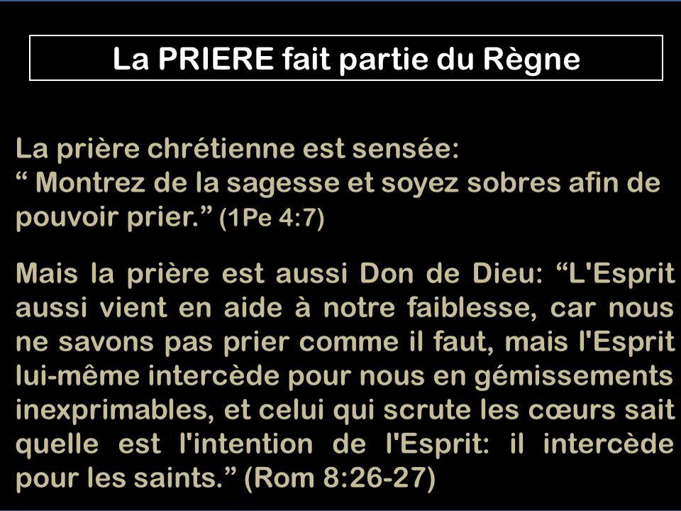 AU PETIT MATIN, il prie seul Il prie seul Nous lui prions Le regard fixé sur Lui Lui et nous, on peut prier ENSEMBLE