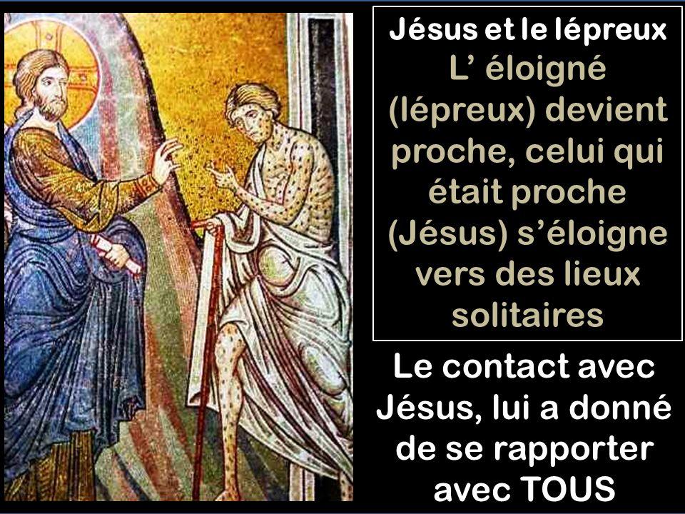 Jésus et le lépreux, face à face - En violant les lois de pureté légale (napprocher de personne), le lépreux supplie avec CONFIANCE: Si tu le veux...