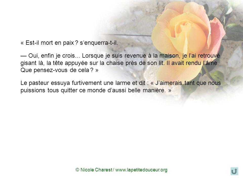 © Nicole Charest / www.lapetitedouceur.org « Jean, je tassure que la prière na rien de compliqué, cest simplement une question de conversation avec Di