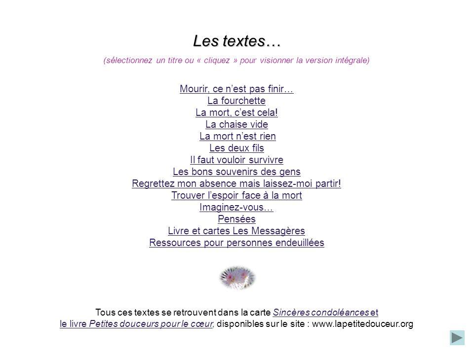 © Nicole Charest / www.lapetitedouceur.org « Est-il mort en paix .