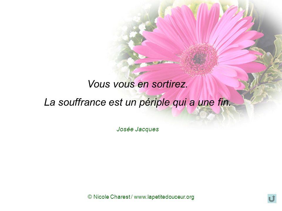© Nicole Charest / www.lapetitedouceur.org La mort n'est pas la perte la plus tragique dans la vie. La perte la plus tragique, cest ce qui meurt en no