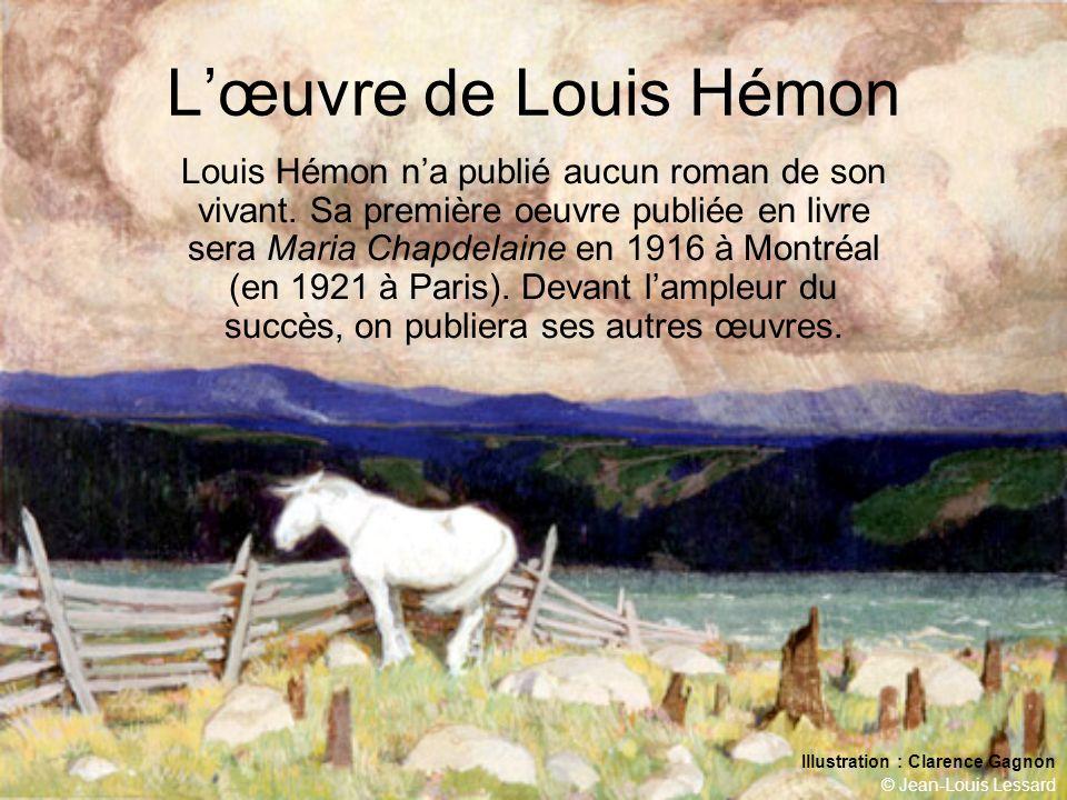 © Jean-Louis Lessard Les films Le roman a donné lieu à trois films (Julien Duvivier, 1934 (ci-contre); Marc Allégret, 1950 (ci-dessous) ; Gilles Carle, 1984 (prochaine diapositive),.