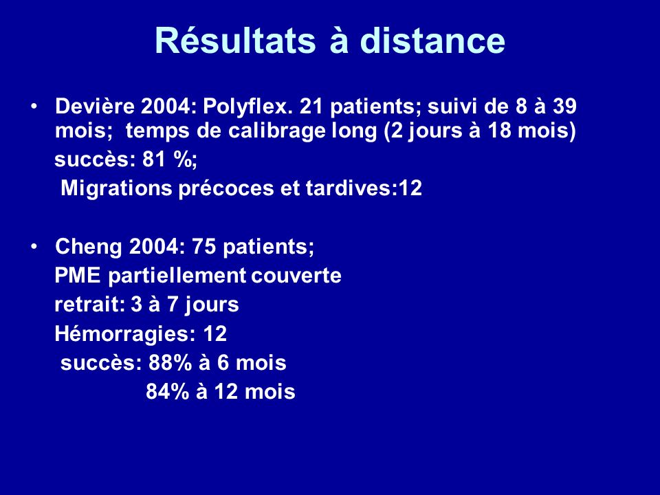 Résultats à distance Devière 2004: Polyflex.