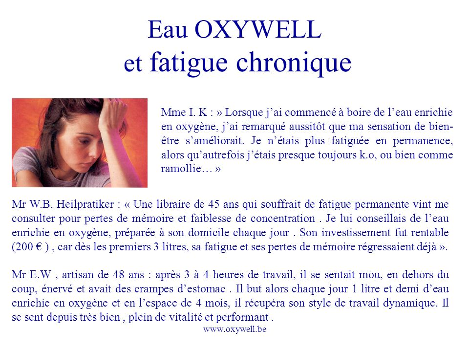 www.oxywell.be Mme I.