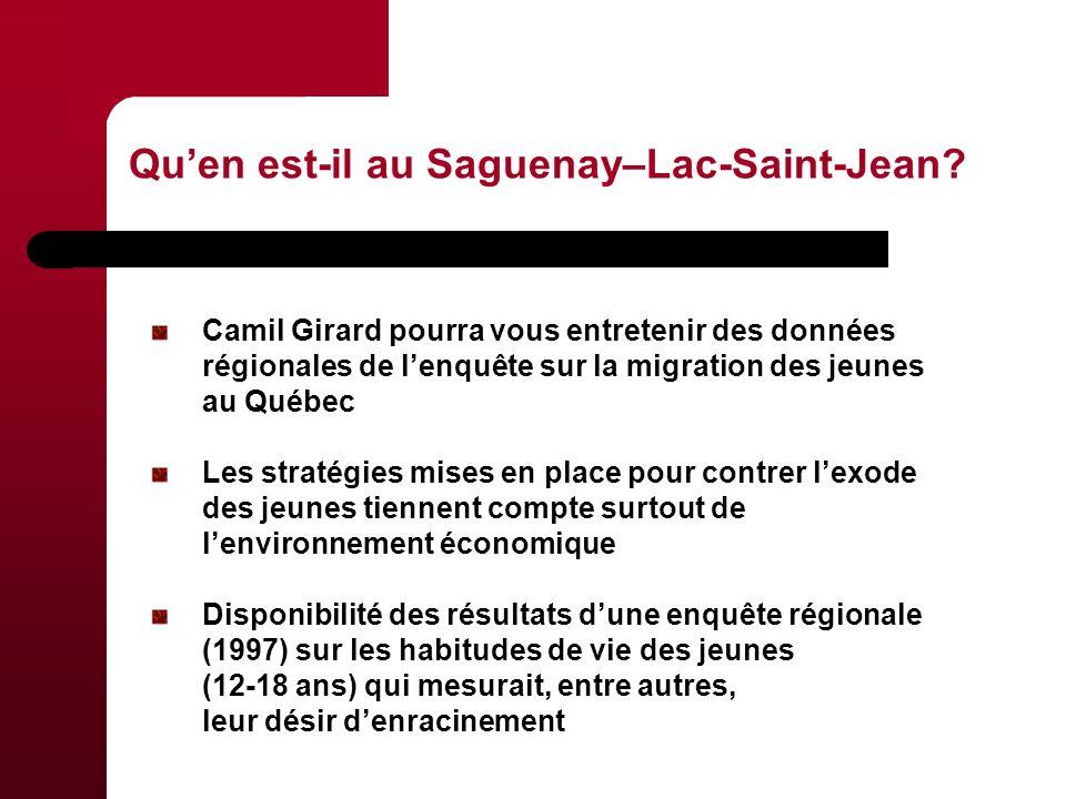 Quen est-il au Saguenay–Lac-Saint-Jean.