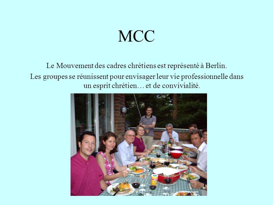 MCC Le Mouvement des cadres chrétiens est représenté à Berlin. Les groupes se réunissent pour envisager leur vie professionnelle dans un esprit chréti